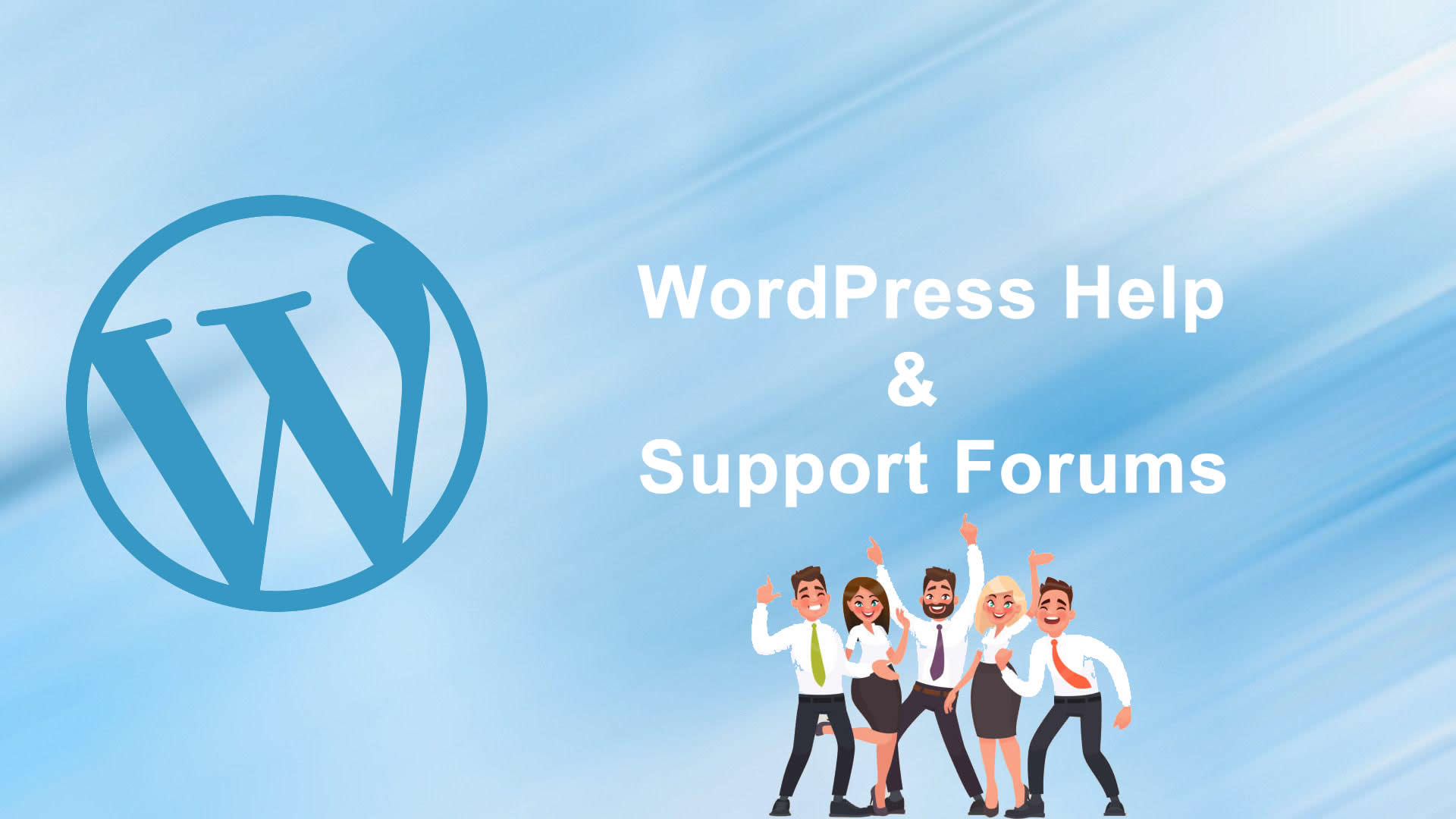 wordpress help support forums
